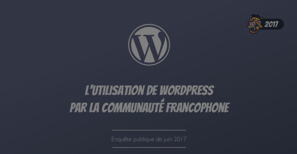 Sondage Communauté francophone WordPress